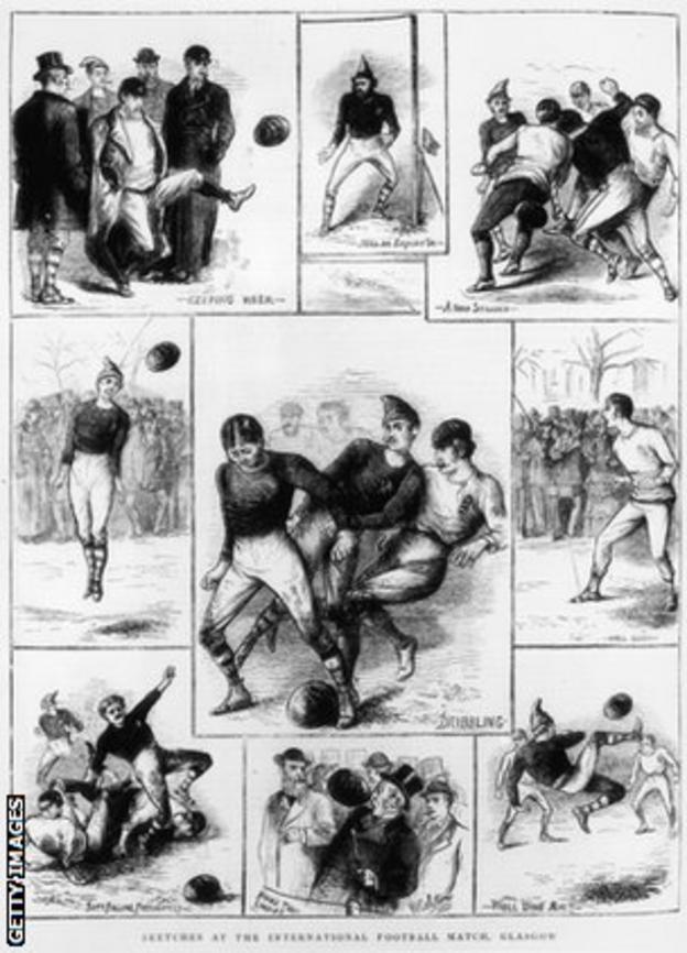 The first international football match - Scotland 0-0 England