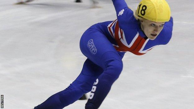 World Cup leader Elise Christie of Great Britain
