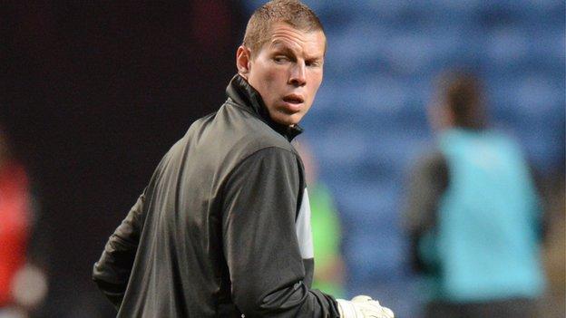 Coventry reserve keeper Chris Dunn