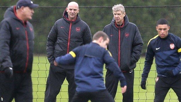 Steve Bould and Arsene Wenger