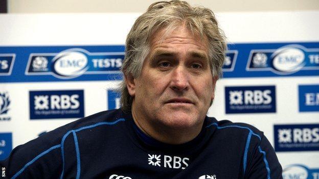 Scotland attack coach Scott Johnson