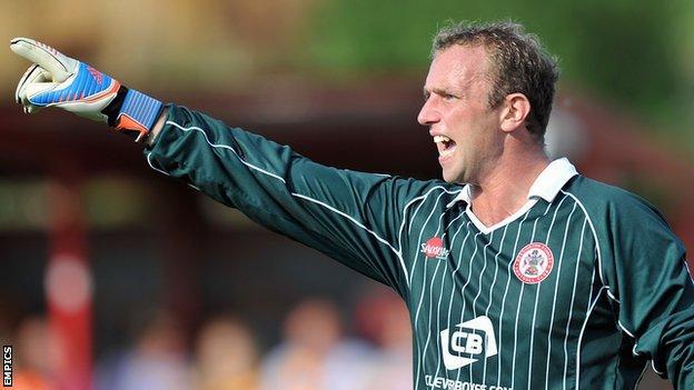 Accrington Stanley goalkeeper Ian Dunbavin