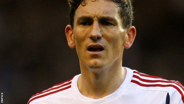 Bolton Wanderers midfielder Keith Andrews