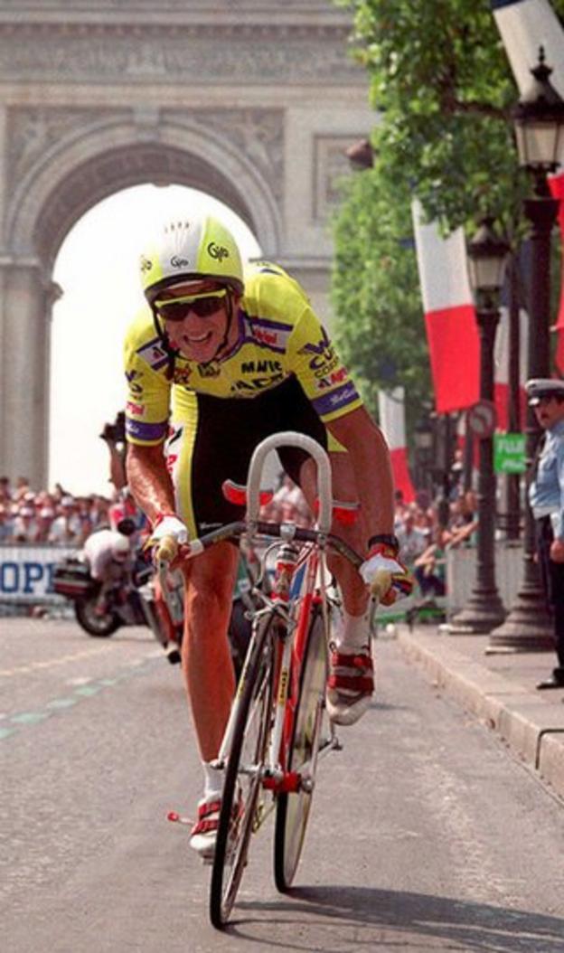 LeMond won the Tour de France three times - 1986, 1989 and 1990