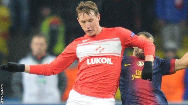 Spartak Moscow midfielder Kim Kallstrom