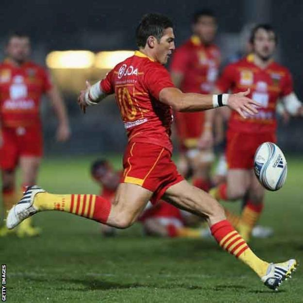 James Hook kicks ahead as his side lose 22-21 in the Amlin Challenge Cup at Worcester