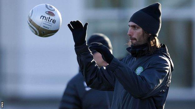 Georgios Samaras in training with Celtic