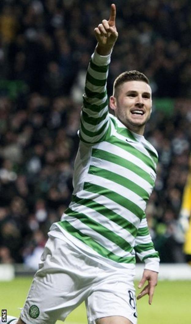 Celtic forward Gary Hooper