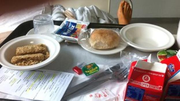 Mark Webber's hospital breakfast
