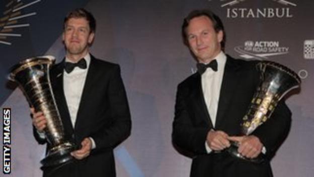Sebastian Vettel and Christian Horner