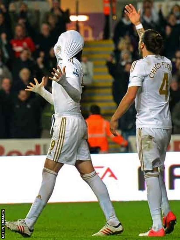 Michu scores twice for the hosts
