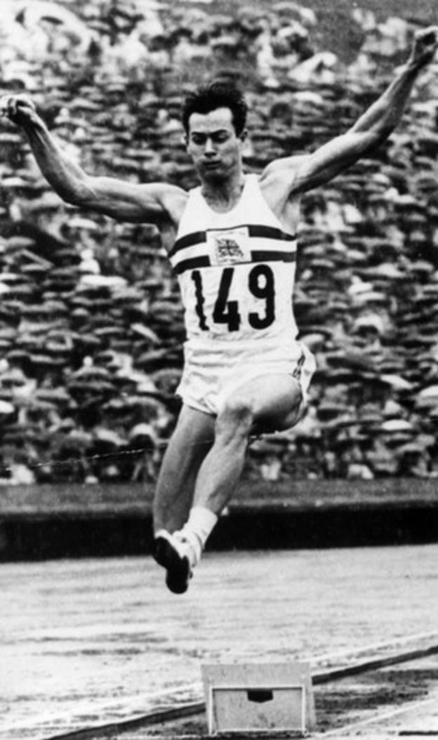 Lynn Davies leaps to Olympic gold at Tokyo 1964