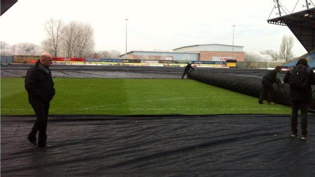 Oxford pitch covers are removed