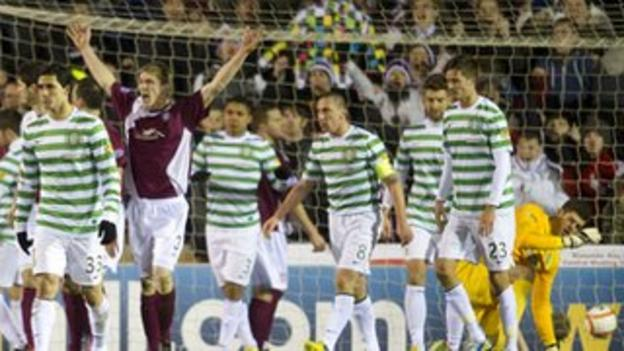 Arbroath and Celtic players