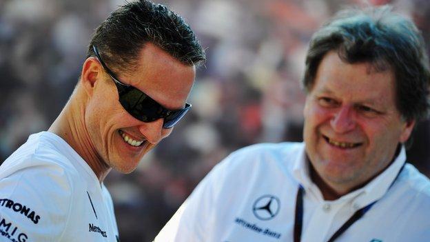 Michael Schumacher & Norbert Haug