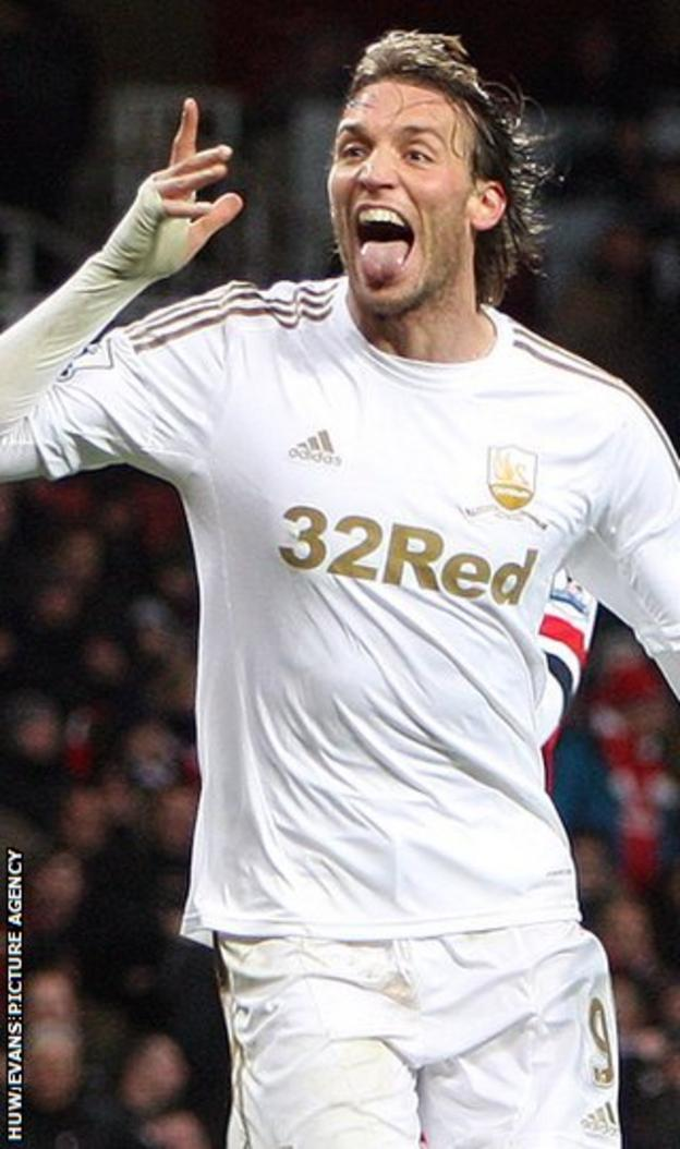 Miguel Michu has been a scoring hit at Swansea City this season