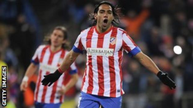 Athletico Madrid striker Falcao