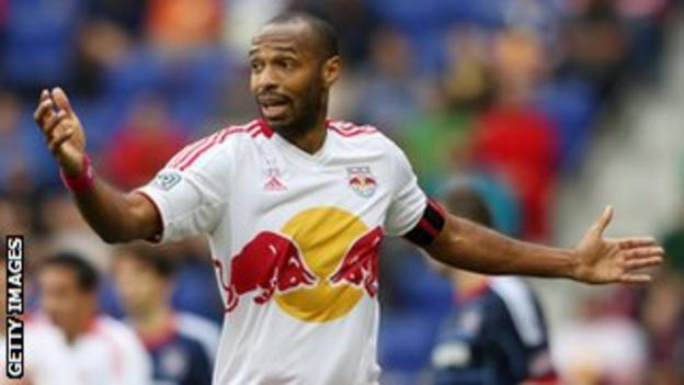 New York Red Bull's Thierry Henry