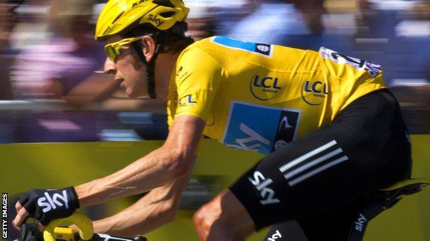 Tour de France 2012 winner Bradley Wiggins