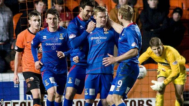 Inverness hit back from 3-0 down to lead briefly at Tannadice