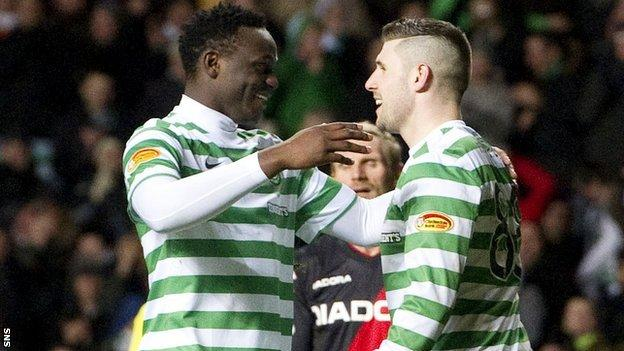 Victor Wanyama and Gary Hooper