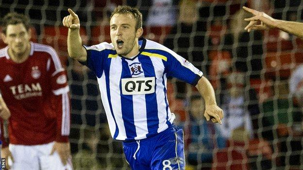 Liam Kelly netted twice for Kilmarnock at Pittodrie