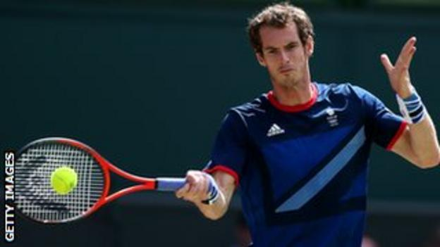 London 2012 men's singles champion Andy Murray