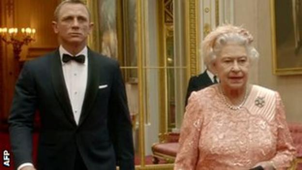 James Bond meets the Queen