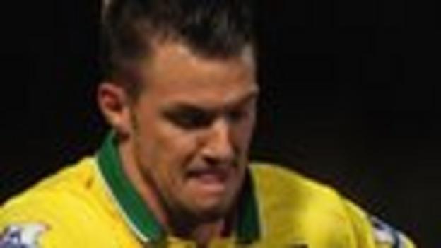 Norwich midfielder Anthony Pilkington