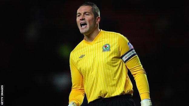 Blackburn Rovers goalkeeper Paul Robinson