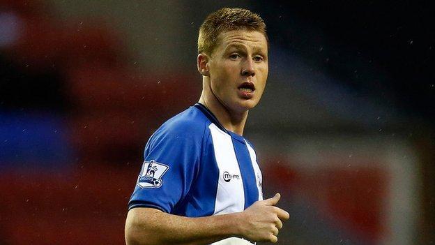 Wigan Athletic midfielder James McCarthy