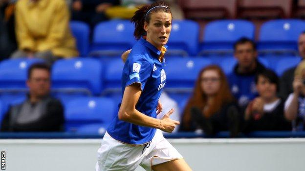 Everton Ladies and England midfielder Jill Scott