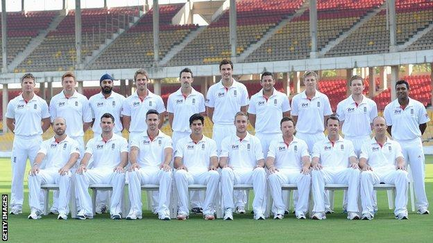 England's touring squad