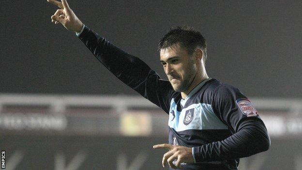 Burnley striker Charlie Austin