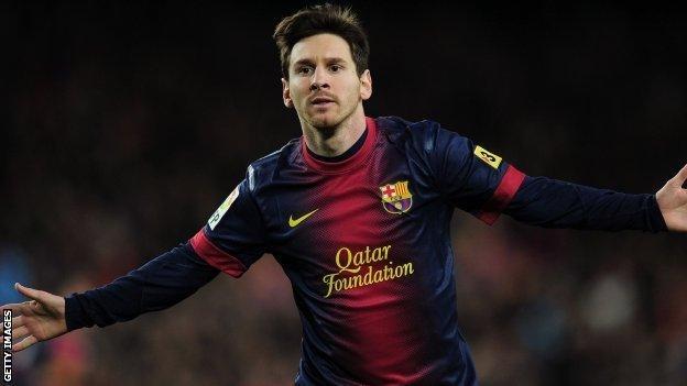 Barcelona forward Lionel Messi