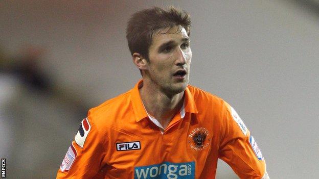 Blackpool midfielder Chris Basham