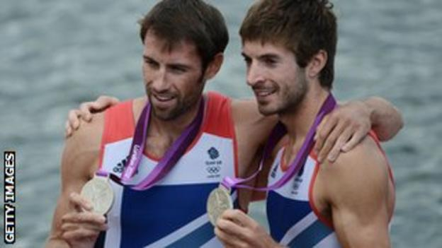 Great Britain's Mark Hunter (right) and Zac Purchase