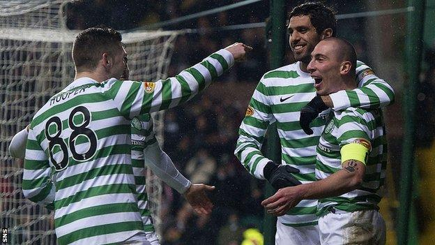 Scott Brown (right) opened the scoring for Celtic