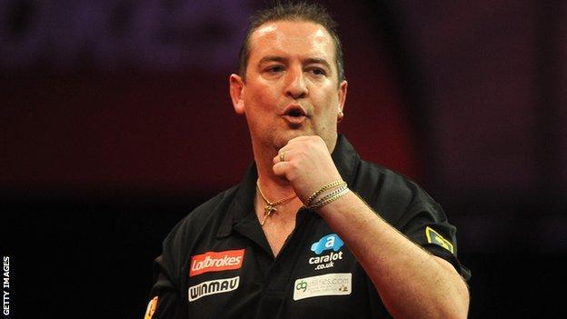 English darts player Dean Winstanley