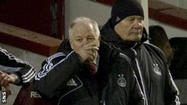 Craig Brown suffers on the sidelines as Aberdeen lose to Motherwell