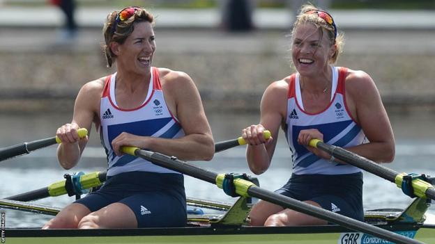 Olympic rowers Katherine Grainger and Anna Watkins