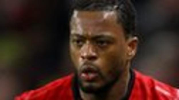 Manchester United left-back Patrice Evra
