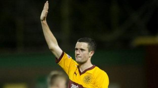 Motherwell forward Jamie Murphy