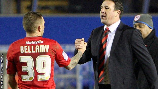 Craig Bellamy with Malky Mackay