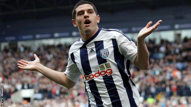 Graham Dorrans celebrates for West Brom
