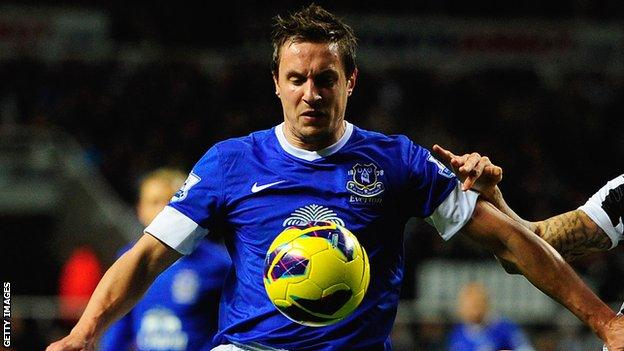 Everton and England defender Phil Jagielka