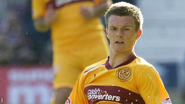 Motherwell defender Fraser Kerr