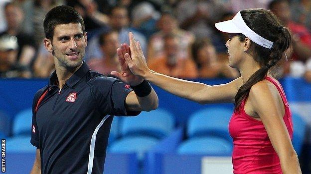 Novak Djokovic (left) and Ana Ivanovic