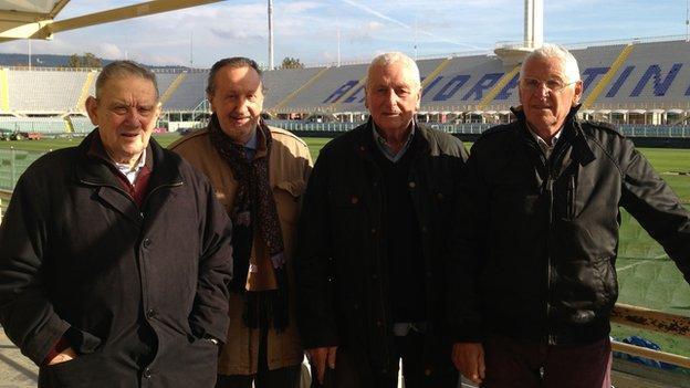 Ardico Magnini (left), Gigi Boni, Ronaldo Lomi and Romolo Tuci.