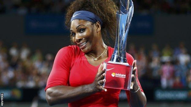 Brisbane International champion Serena Williams